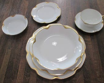 Vintage Haviland Limoges Fine China set of 4 Place Settings