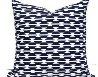 Southwestern Pillow Cover, Aztec Pillow Cover, Arizona Pillow Cover, Tribal Pillow, Tribal Nursery, Navy Blue Nursery