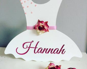 Wooden Personalised TUTU Freestanding Plaque