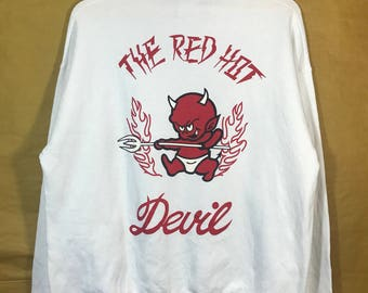 80s Vintage Dog Town The Red Hot Devil Skates Skateboard Sweatshirt Adults Size Chest 25""