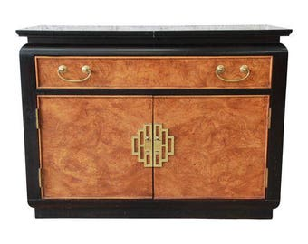 Hollywood Regency Chinoiserie Bar Cart by Century Furniture