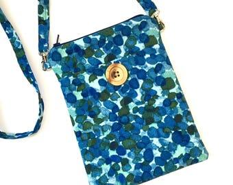 Cross Body Bag - Zipper Bag - Small Sling Purse - Travel Accessory - Crossbody Phone Holder - Fabric Crossbody Purse