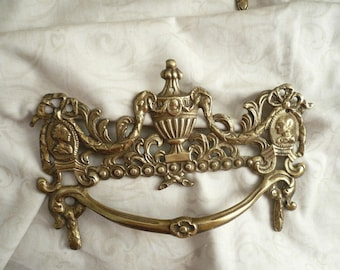 6 Antique French Brass Drawer Handles French Furniture Hardware Brass Drawer Pulls French