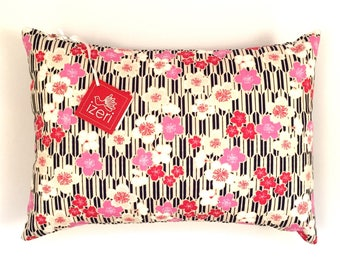 Cherry Blossom Pillow | Decorative Pillow | Cover & Insert 12x16inch | Travel Pillow | Flower Pillow Cushion | Japanese Pillow