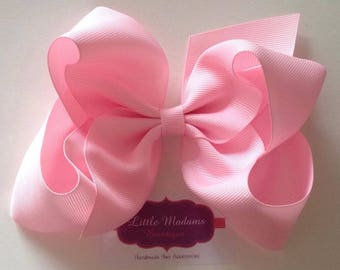 6 inch Baby Pink Boutique bow