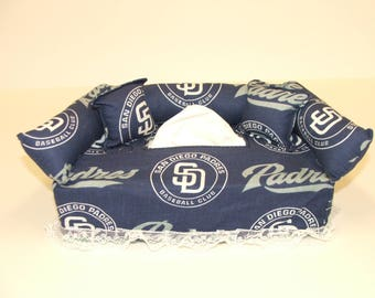 San Diego Padres MLB Licensed fabric tissue box cover,