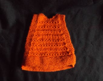 """6.5"""" Chicken Sweater,  Rust Ripple Pattern Sweater,  Bantam Chook Jumper, Sweaters for Chickens,  Free Range Chickens, Ex Battery Hens,"""