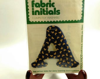 "Iron On Fabric Initials ""A""/Instructions On Back/Pre-Shrunk/Washable/Dry Cleanable (B)"