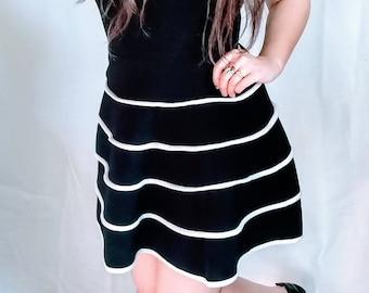 Moderately Modern B&W Summer Dress (Small)