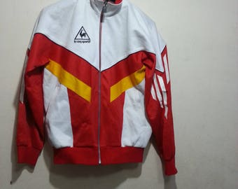 vintage 90s le coq sportif track jacket size 90