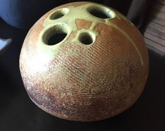 Fantastic Mid Century Tom McMillin Pottery Rock Vase Sculpture Vessel