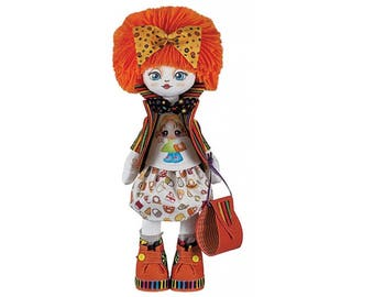 Doll Girlfriend Doll sewing kit  - Nova Sloboda; Kit to make doll; Girl's birthday gift; Handmade doll; Country style doll; Create your doll