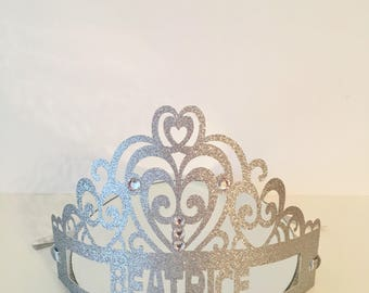 Princess Crown. Personalised Party Tiara.  Birthday Party Favors. Pink Princess Party. Photo Props. Princess Tiaras. Party Decorations