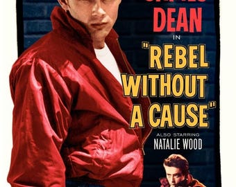 Summer Sale James Dean in Rebel Without a Cause 1955 Drama/Teen Classic Movie POSTER