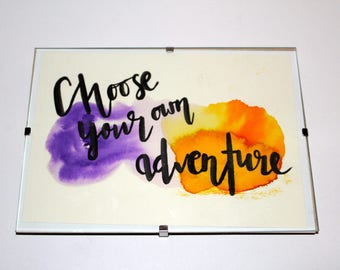 Positive A5 Watercolour Art (framed) - Choose Your Own Adventure