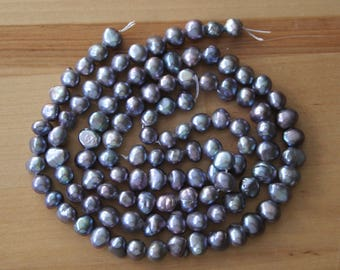 AA Natural Cultured Freshwater Baroque Pearls 7-8mm - Full Strand (Free UK Postage)