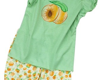 NATURAL WONDIES Winged Tipped Tee w/ Bicycle Shorts for Girls