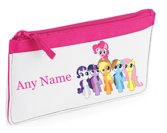 Personalised My Little Pony Style Pencil Case *Pink/Blue/Red/Black*