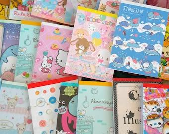 NEW ITEMS! Lot of Kawaii Stationery - Kawaii Stationery Grab Bag -  Large Set - Mini Memo Sheets - Sticker Flakes - Large Memo Sheets - Gift