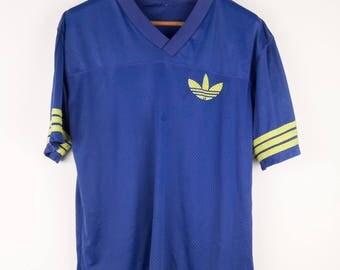 Vintage Adidas Trefoil Big Logo Hip Hop Clothing Jersey T-Shirt Medium
