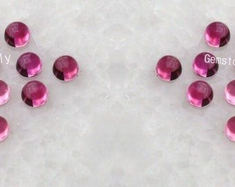 Pink Tourmaline 4mm Cabochon Round - Pink Colour - Semi Precious - Calibrated Size- Loose Gemstone - Wholesale Lot