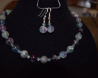 Fluorite bead necklace
