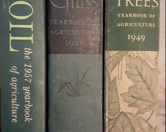 Vintage Soil and Grass books 1948 1957 Vintage agriculture Trees 1949