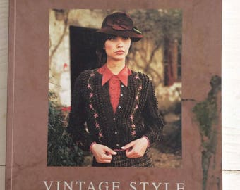 Knitting Book - Knitting Pattern Book - Vintage Style 30 Knitting Designs from Rowan By Kim Hargreaves Paperback Book -
