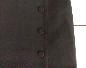50s Vintage Style Skirt - Black Skirt - Pencil Skirt - UK Size 14 Waist 32 inches - Womens Skirt - Knee Length Skirt - Fitted Skirt