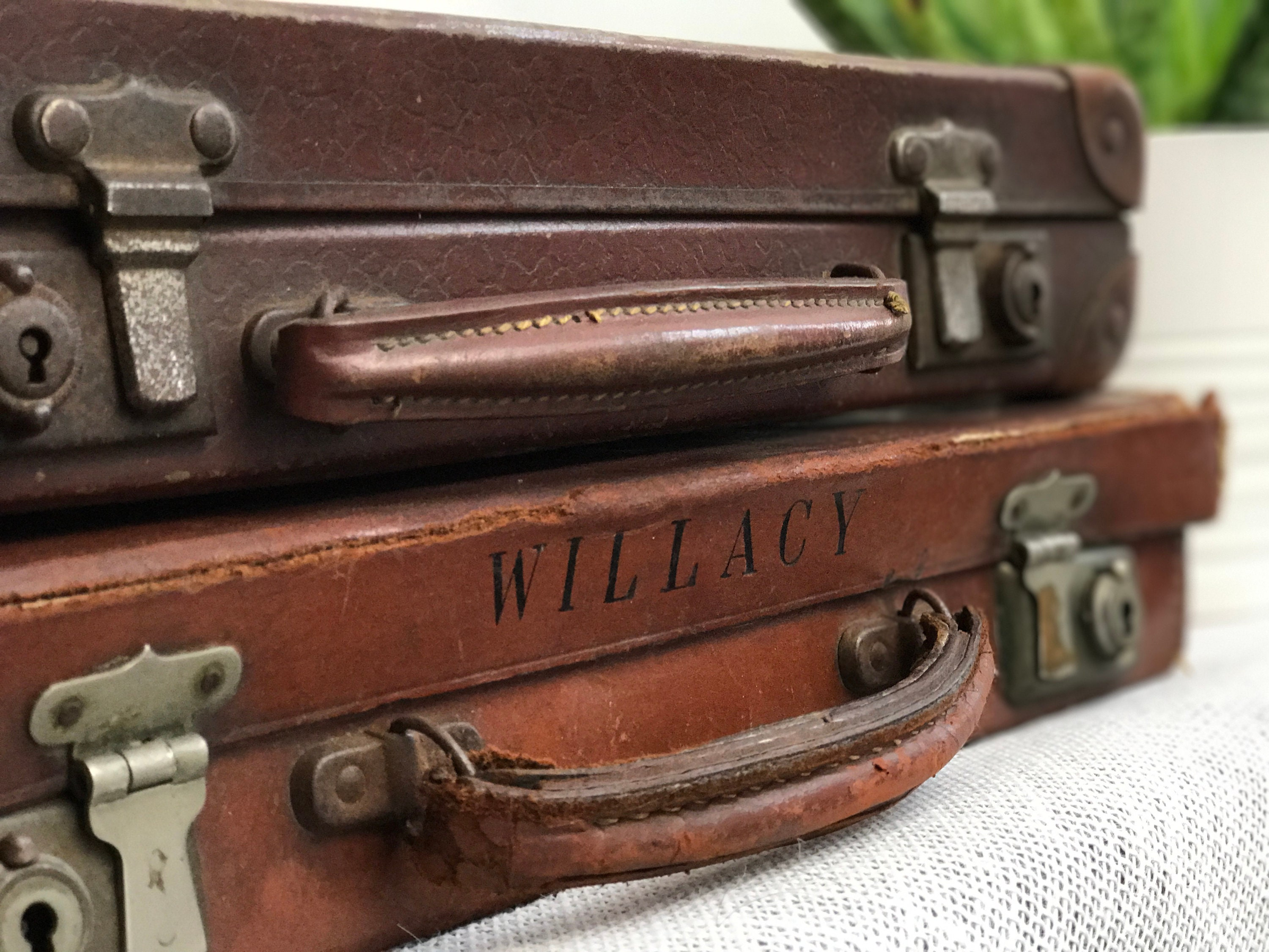 Brown Vintage Cases | Vintage Briefcase | Small Luggage Pair | Vintage  Brown Luggage | Vintage Luggage | Vintage Home Decor | Antique Cases