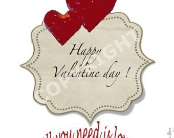 St Valentine, Happy Valentine's day card