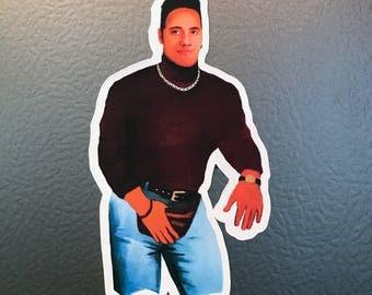 The Rock Fridge Magnet, Funny Rock Refrigerator Magnet, Pro Wrestling, Dwayne Johnson Actor, John Cena, Pro Wrestling Fan, Kitchen Humor