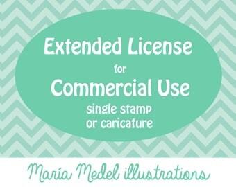 Licencia extendida para uso comercial - solo sello o caricatura