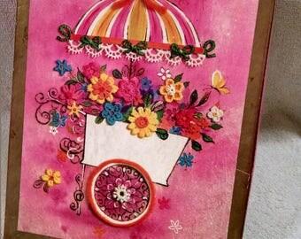 Reduced Price Beautiful Vintage Greeting Card Box