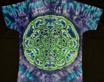 Metatron's cube tie dye tee shirt