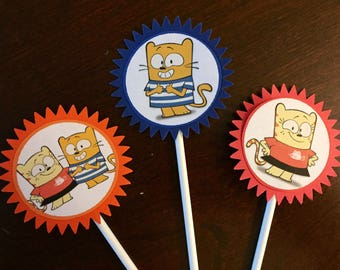 Ollie and Moon Cupcake Toppers, Ollie and Moon Party, Ollie and Moon Birthday