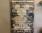 Disney Quotes In This House We Do Disney Planked Wood Dark Stain