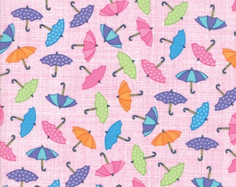 Moda RAINY DAY! Quilt Fabric 1/2 Yard By Me & My Sister - Umbrella Pink 22291 15