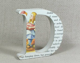 """Alice in Wonderland Letters, freestanding - 2 Heights Available 10cm/4"""" & 13cm/5.10"""""""