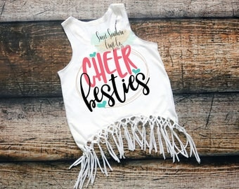 Cheer Besties,Cheerleader Shirt,Cheerleader Tank Top,Cheer Clothing,Racerback Tank,Girls Tank Top,Tween Teen Shirt,Cheer Squad