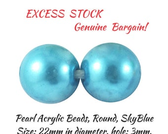 EXCESS Stock! Variety of Acrylic Pearls, Huge Round  Pearls, 35 Round Pearls, Loose Pearls for Jewellery Creations,Great Prices,DETASH