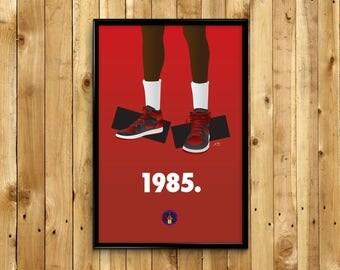 """Banned Air Jordan 1 """"1985"""" Sneaker Poster"""