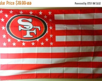 PRE-SEASON SALE 30% Off San Francisco 49ers, 49ers Nation Flag or Banner 3' x 5' White Stripes
