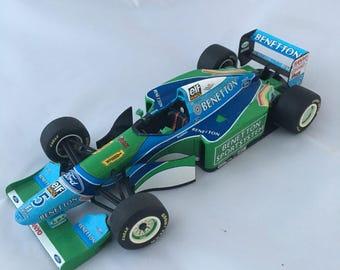 Formula 1 model car, Michael Schumacher, Benetton Ford 194B, Minichamps car, Sports racing car, collectable car, 1:18 scale model car,