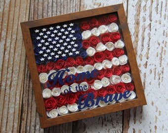 Home of the Brave Shadow Box