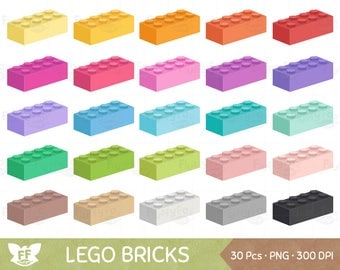 50% OFF Lego Clipart, Toy Bricks Clip Art, Rainbow Legos Colorful Brick Building Toys Cute Cliparts PNG Graphic Download, Commercial Use