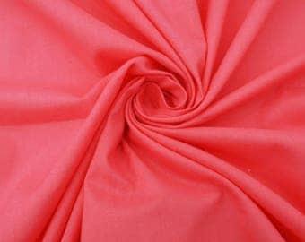 "Salmon Cotton Poplin Fabric, 40""s Yarn Count, Ethnic Fabric, Home Decor Accessories, 44"" Inch Fabric By The Yard SZBC50D"