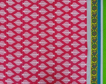 "Upholstery Fabric, Leaf Print, Magenta Cotton Fabric, Sewing Material, 42"" Inch Dress Fabric By The Yard ZBC9082A"
