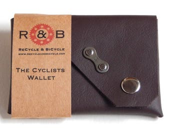 Cyclists Cycling Bicycle Wallet Reclaimed Leather By ReCycle & BiCycle