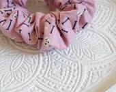 Dusty Rose Bones + Skull Scrunchie (for dog moms and cool gals)
